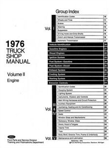 On-Demand 1976 Ford Truck Bronco Econoline Shop Service
