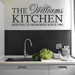 Kitchen Wall Art How To Build A Cabinet Personalised Family Quote Sticker Decal Image Is Loading