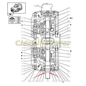 Hydraulic Pump Shaft YN10V00043S111 for Kobelco Excavator
