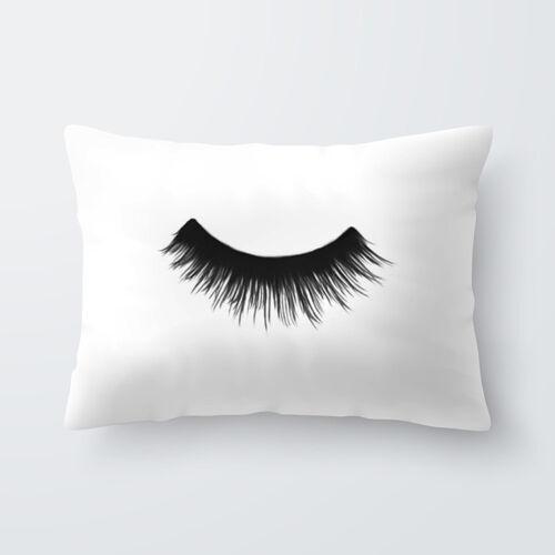 home decor pillowcase colorful eyelash sofa car polyester home office cushion cover 30 50cm home furniture diy