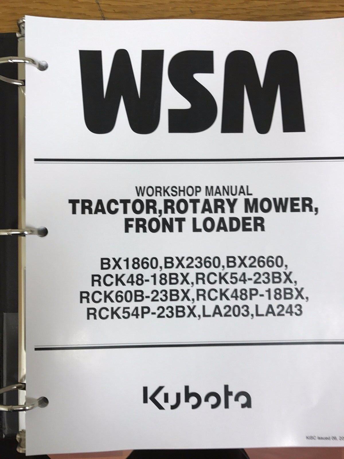 hight resolution of kubota bx1860 bx2360 bx2660 tractor workshop service manual for sale online ebay