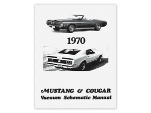 New 1970 Mustang Vacuum Schematic Manual Diagram Boss Mach 1 Cougar XR7 Ford | eBay