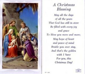 Christmas Blessing Holy Card And Devotional Prayer EBay