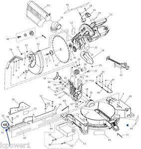 089028007037 Ridgid R4120 Compound Miter Saw Fence Knob Screw