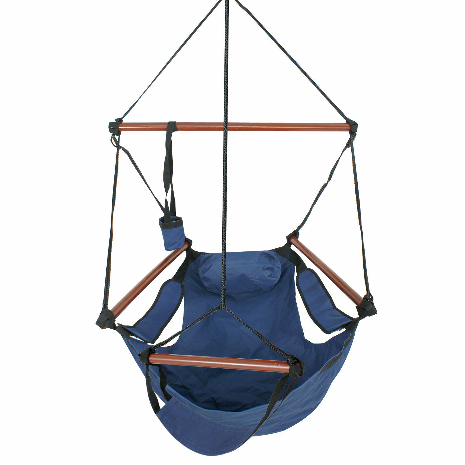 hanging chair wood ergonomic office singapore new deluxe hammock air sky indoor outdoor