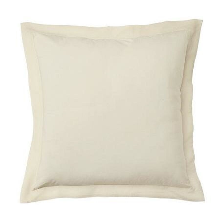 2 EURO or EUROPEAN BEIGE PILLOW SHAMS