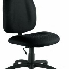 Armless Desk Chair Kid Chairs Black Task Computer Office New | Ebay
