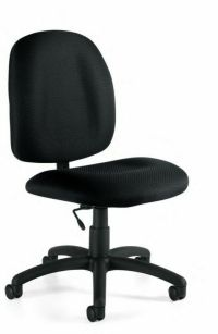 BLACK ARMLESS TASK COMPUTER OFFICE DESK CHAIRS NEW   eBay