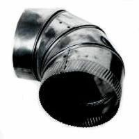 NEW IMPERIAL 6 INCH BLACK HEAVY 24 GAUGE STOVE PIPE ELBOW ...