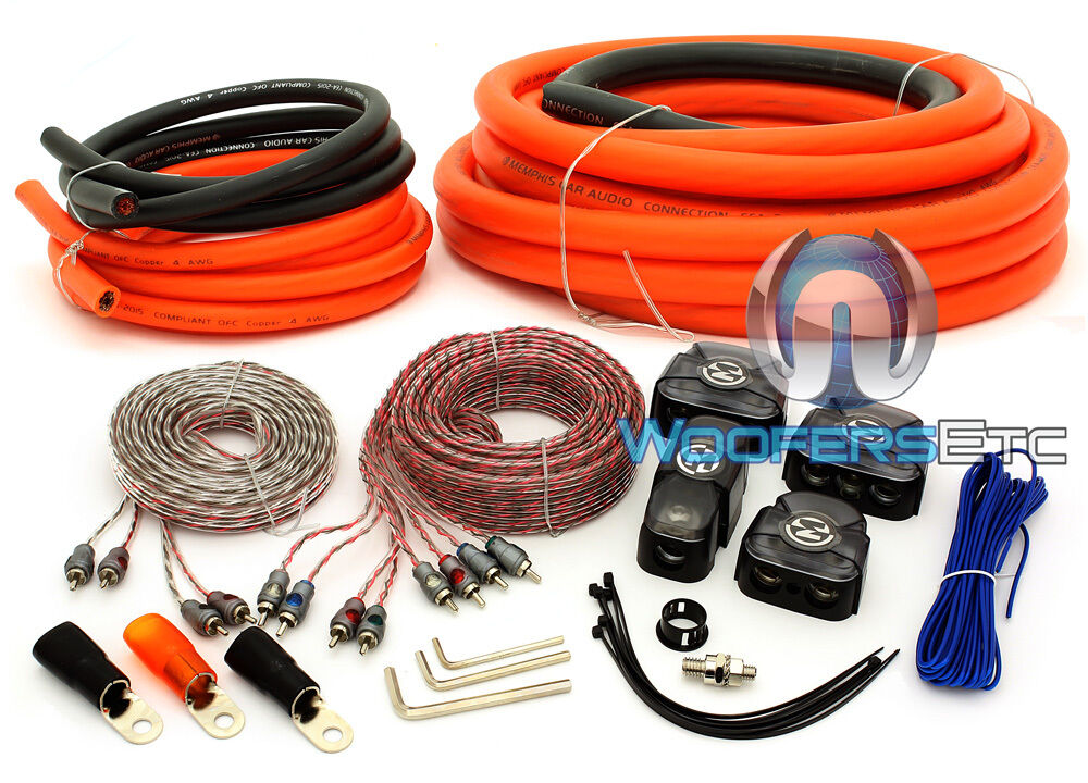 Amplifier Wiring Kit Car Audio Amp 8g Installation Install 1000 Watt