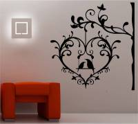 LOVE BIRDS IN CAGE wall art sticker vinyl BEDROOM DECAL