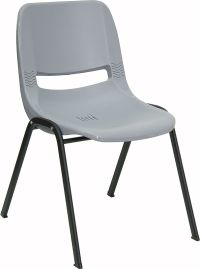 Lot 10 Gray High Impact Plastic Stack Classroom Chairs | eBay