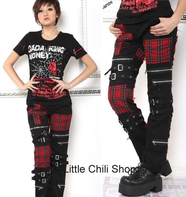 Punk Visual Kei Slim Mummy 71173 Pants Size -xl