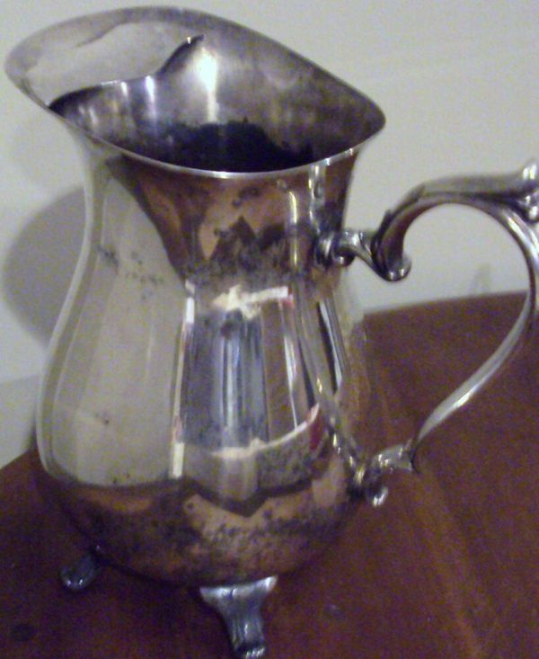 International Silver Plate Footed Pitcher Jug