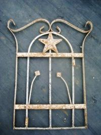 Lg Wrought Iron Star Wall Hanging, Metal Art Work - Nicely ...