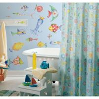 35 New SEA CREATURES WALL DECALS Tropical Fish Bathroom ...