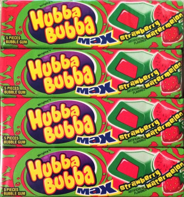 Hubba Bubba Max Strawberry Watermelon Bubble Gum 36 5