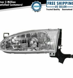 details about headlight headlamp driver side left lh new for 98 02 chevy prizm [ 1000 x 1000 Pixel ]