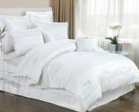 8 PIECE WHITE BEDDING SET INCLUDES COMFORTER. KING & QUEEN ...