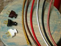 8' 3-Wire Round Cloth Covered Cord & Plug, 18ga. Vintage ...