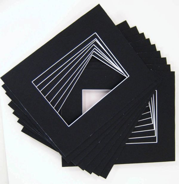 16x20 for 11x14 Black Mat with whitecore 100pack eBay