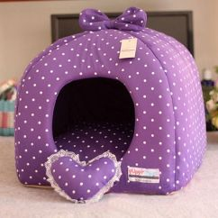 Soft Sofa Dog Bed Arm Table Wood Rose/purple Princess Pet Cat House Tent Small ...