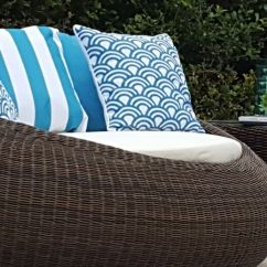 Hanging Chair Ebay Au Teak Chairs Outdoor Round Quality Rattan Day Bed Sofa Lounge Rrp $1800 |
