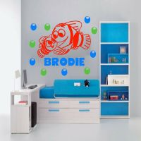 Finding Nemo Wall Sticker Personalized Name Decal Fish