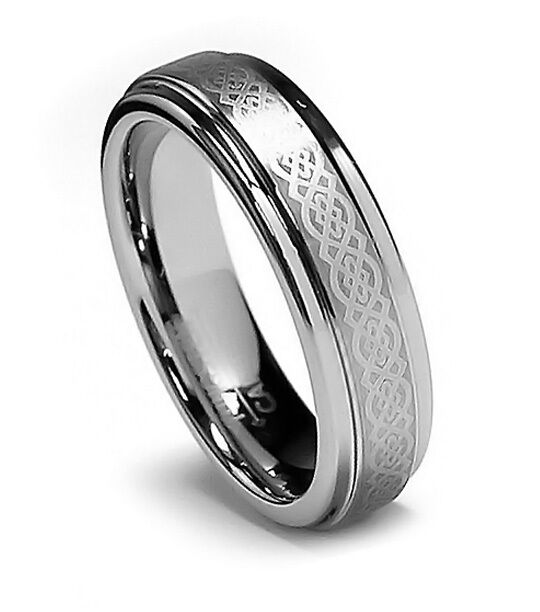 5mm Womens Tungsten Ring Wedding Band Celtic Tungsten