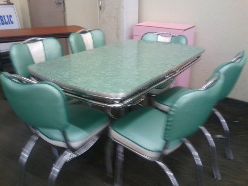 chrome vintage 1950's formica kitchen table and chairs
