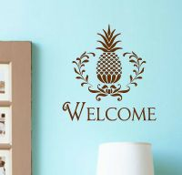 Vinyl Wall Decal Welcome Pineapple Lettering Entryway Home ...