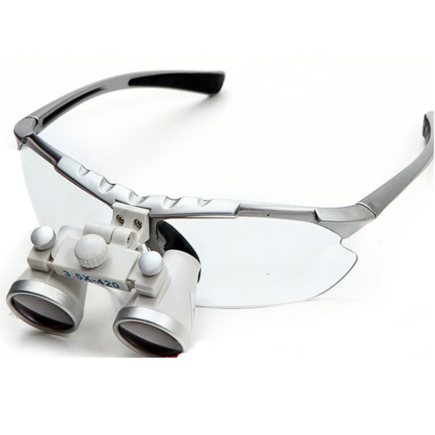 Silver Surgical Binocular Loupes 35420mm Dental Optical