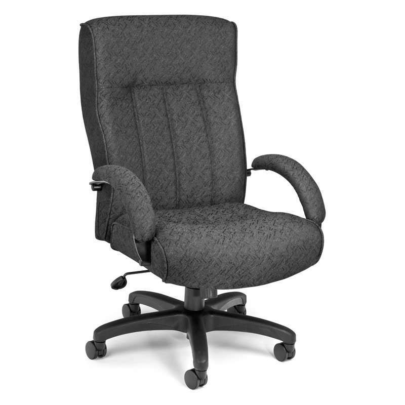 HIGH BACK BIG And TALL CHARCOAL MANAGER OFFICE COMPUTER