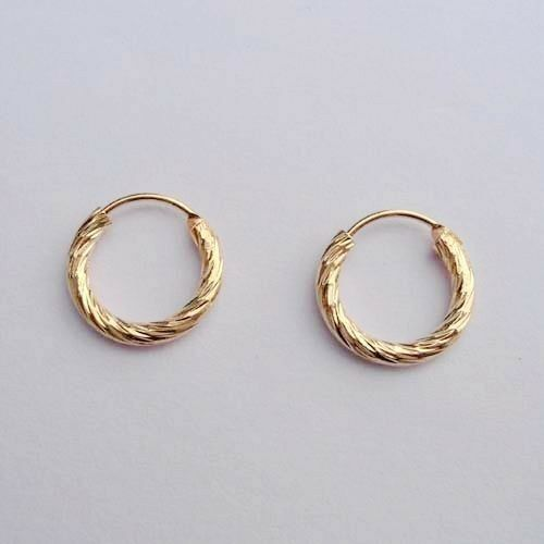 Small Gold Colored Hoop Earrings