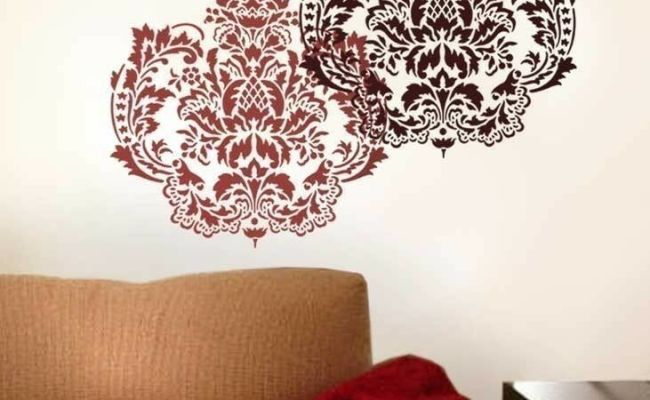 Damasque Reusable Wall Stencil Large Wall Stencils For