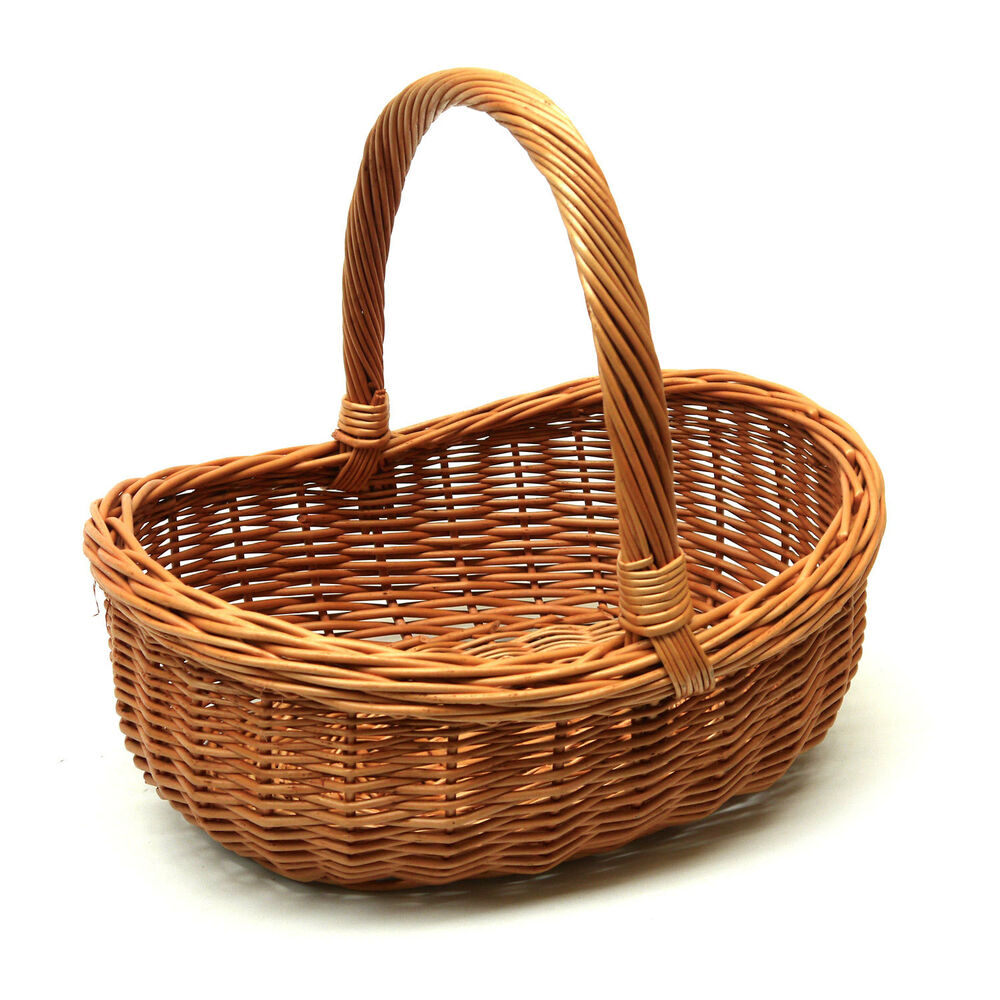 Wicker Basket with Handle Great for Gift Storage Carry
