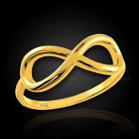 Polished Gold Infinity Ring | eBay