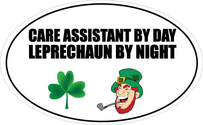 CARE ASSISTANT BY DAY LEPRECHAUN  Elderly  Caring Vinyl