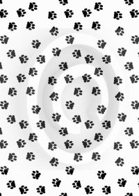 BLACK PAW PRINTS ~ EDIBLE Rice Paper / Icing Decorations