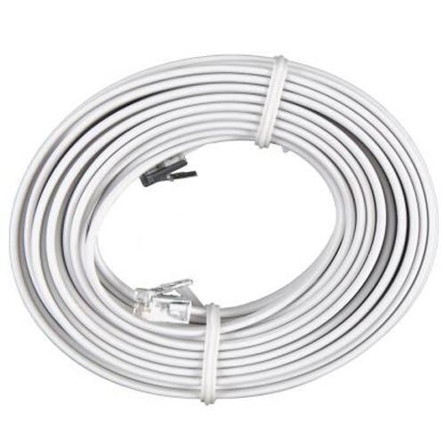 50 FT Feet RJ11 4C Modular Telephone Extension Phone Cord