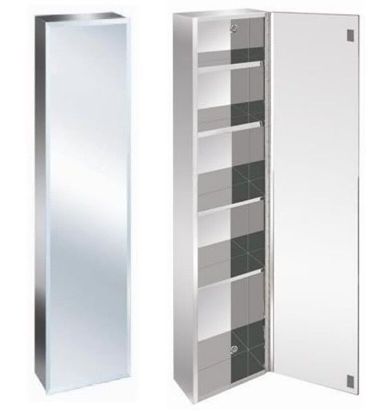 New Luxury Stainless Steel Bevelled Edge Reversible Tall
