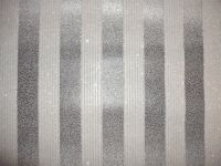 Luxury Designer Wallpaper (SILVER/BLACK Glitter Stripe)