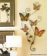 Metal Butterfly Wall Decor Art Garden Cottage Unique