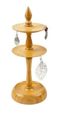 Tiered Wooden Earring Stand / Holder Handmade in India ...