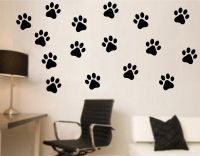 DOG CAT PAW PRINTS ANIMAL PET WALL ART DECAL STICKERS