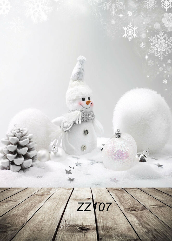 5x7FT Xmas Snowman Scenery Photography Backdrop Background