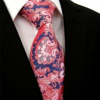 Mens Tie SALMON Pink Satin Pinkish