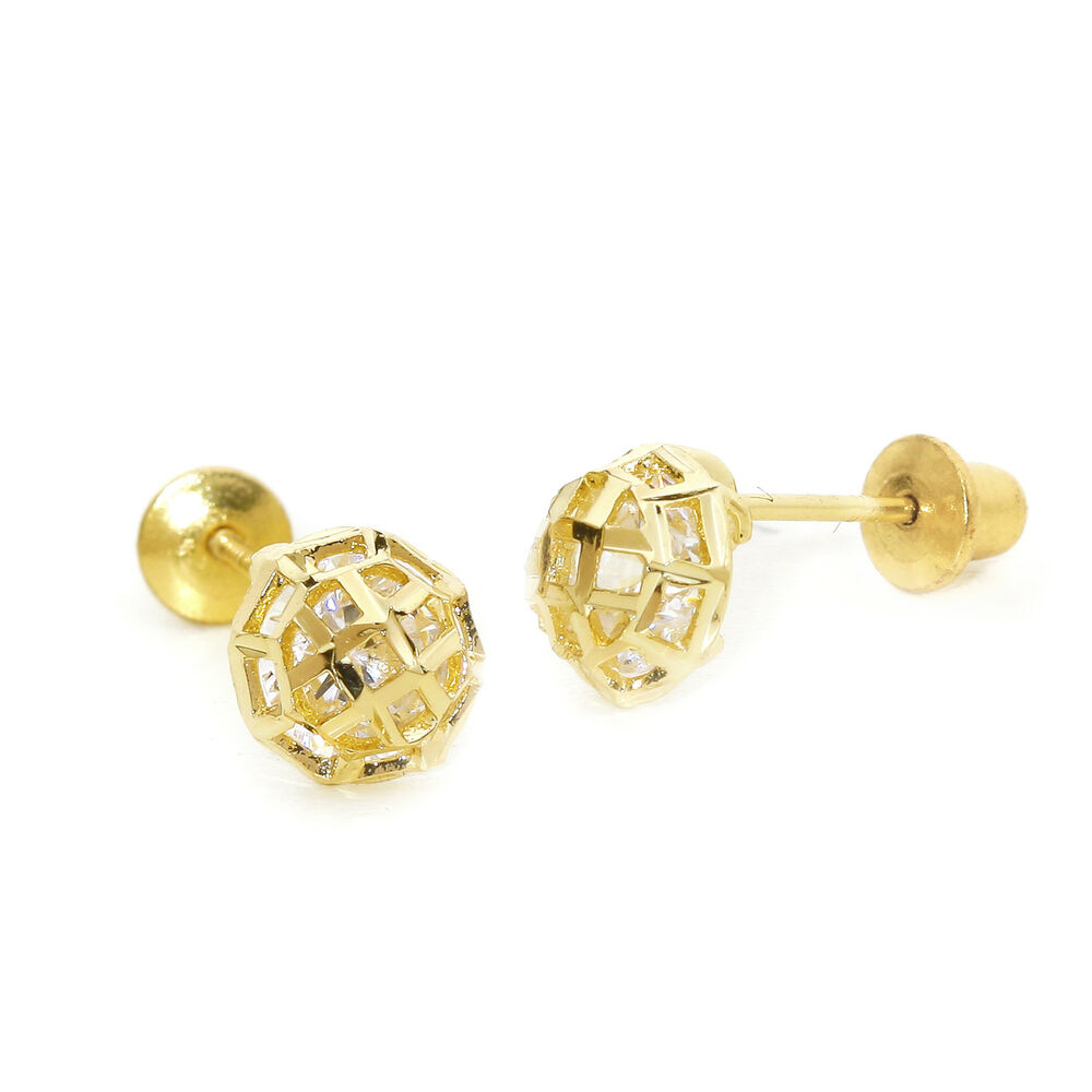 Gold Earrings For Baby Girl
