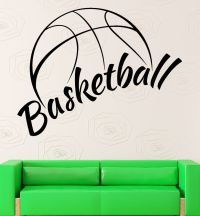 Wall Sticker Vinyl Decal NBA Basketball Ball Cool Decor ...