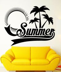 Wall Sticker Vinyl Decal Summer Palm Beach Relax Tropical ...